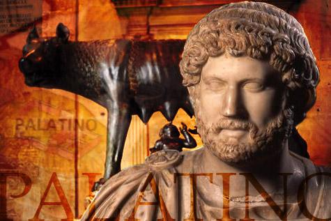 Colllage, Emperador Adriano, Romulo y Remo